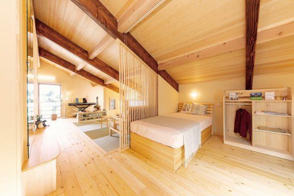 夢ハウスの木のひらやの子供部屋