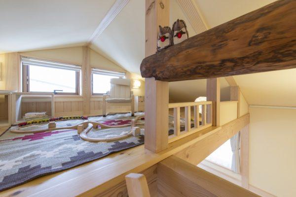 池田建設でリフォームを行ったリセット住宅の屋根裏部屋